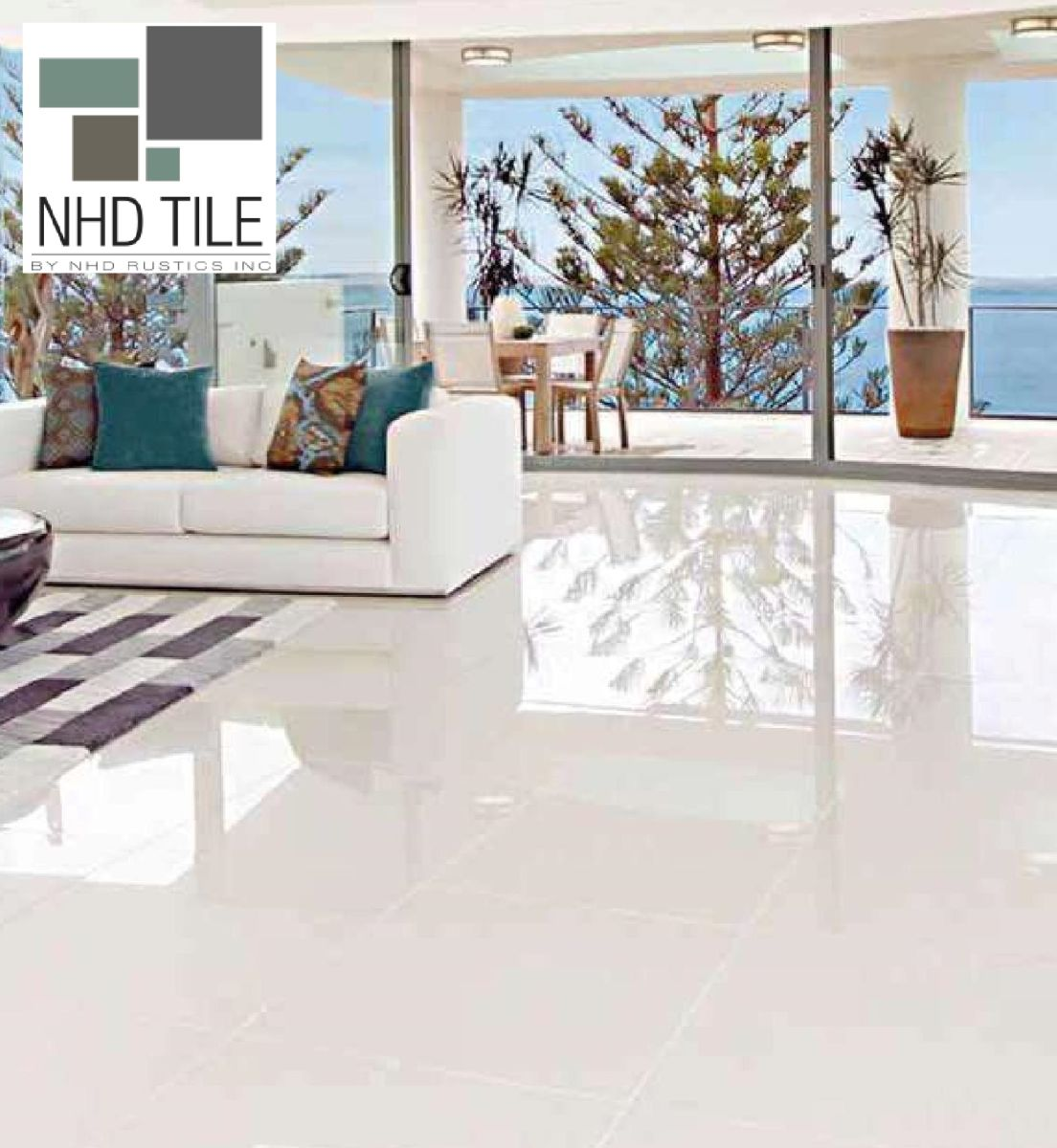 Details about Glazed Polished Porcelain Tile 32x32 Iceberg Alpine White Rectified Marble Look