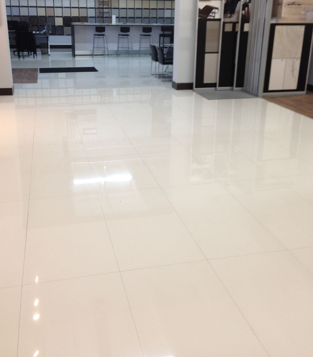 Polished Porcelain Tile 32x32 Moderni White Rectified Marble Look Ebay