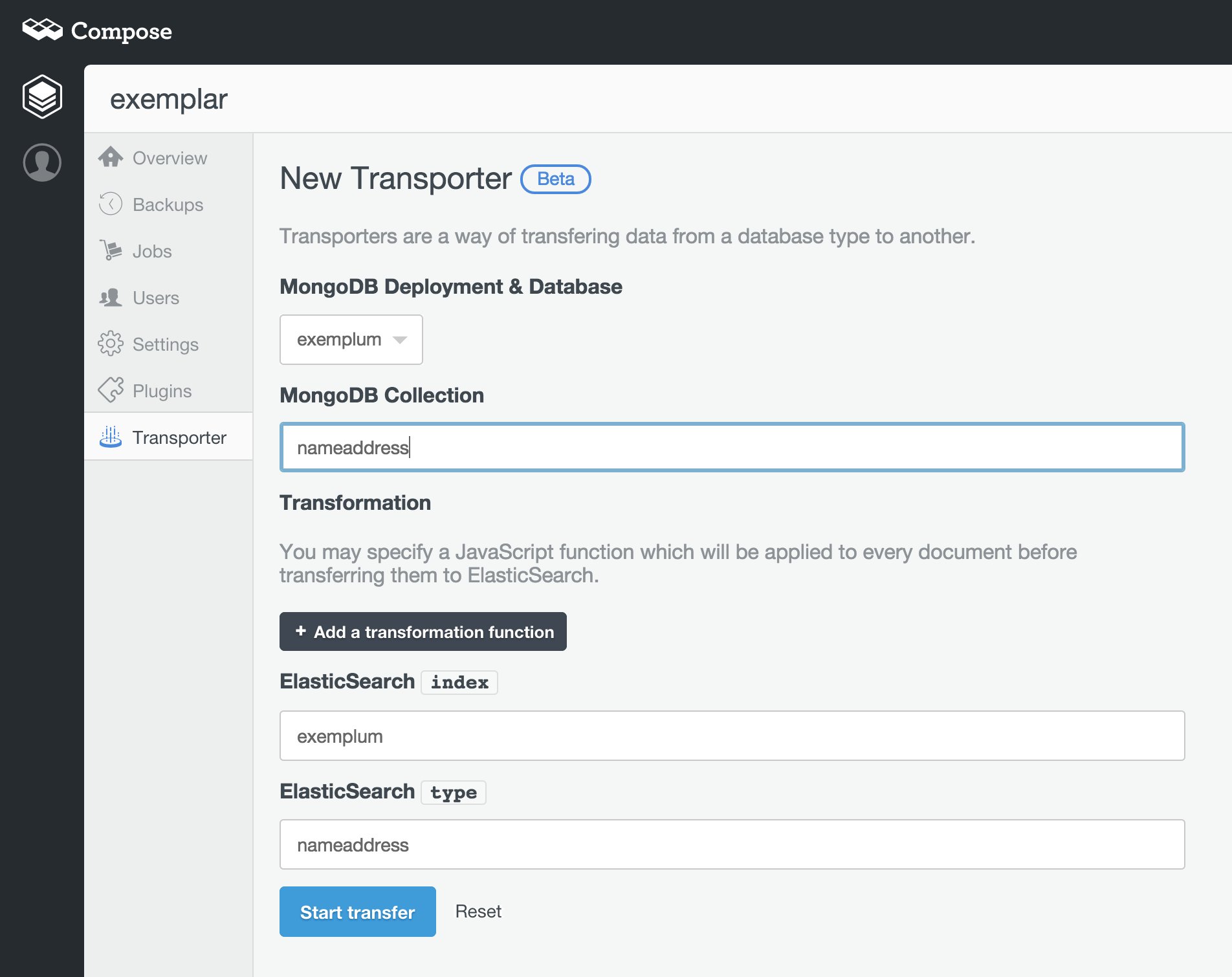 Transporter Gets MongoDB Data Into Elasticsearch - Compose