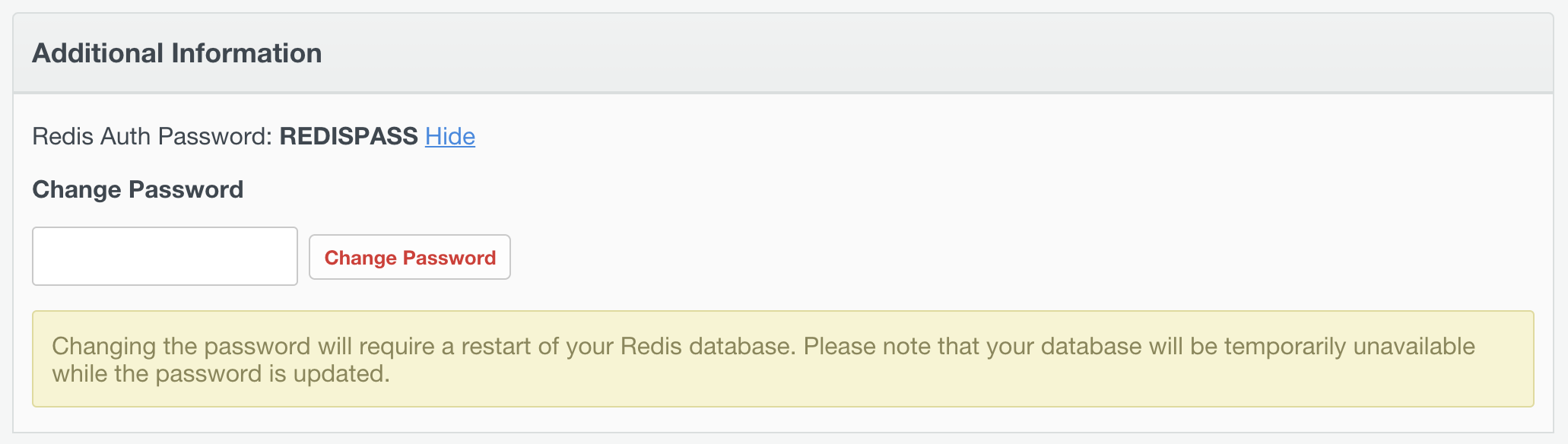 Redis password