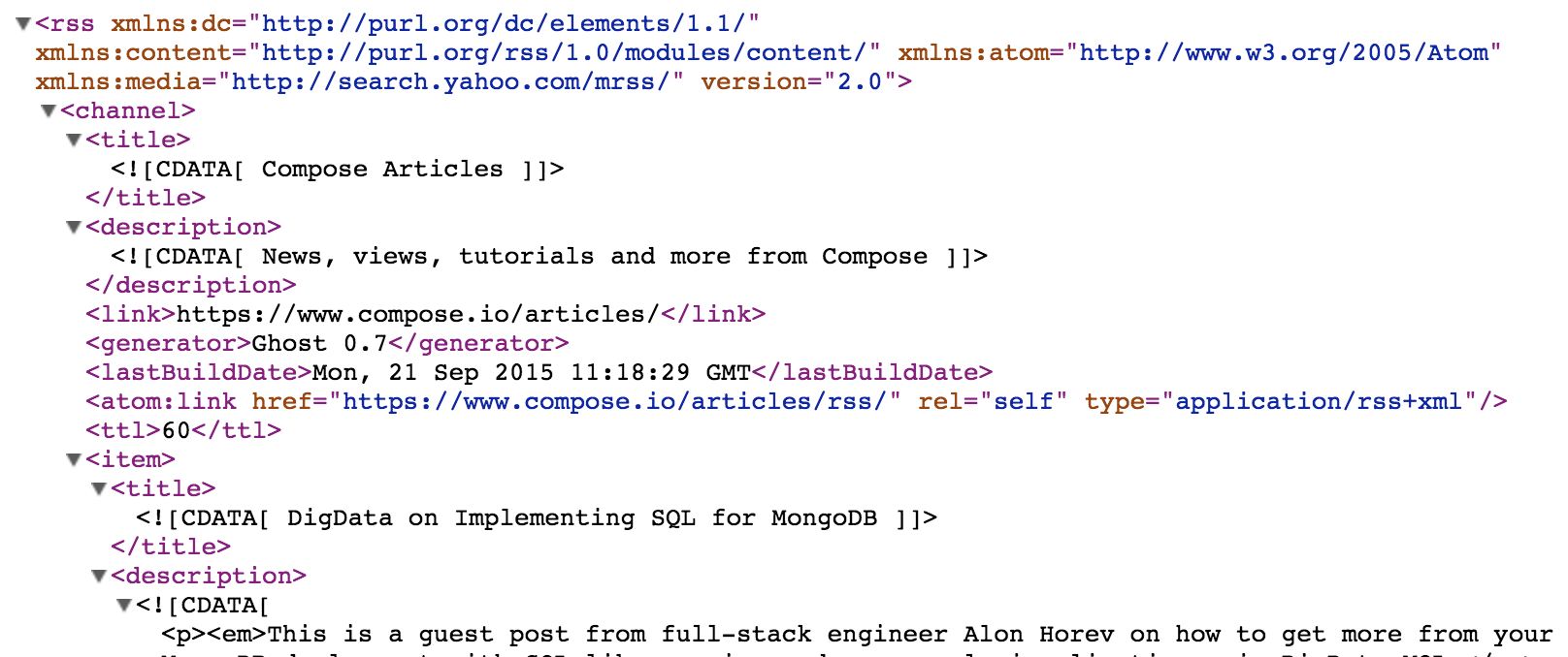 To Go from RSS to Elasticsearch - Compose Articles