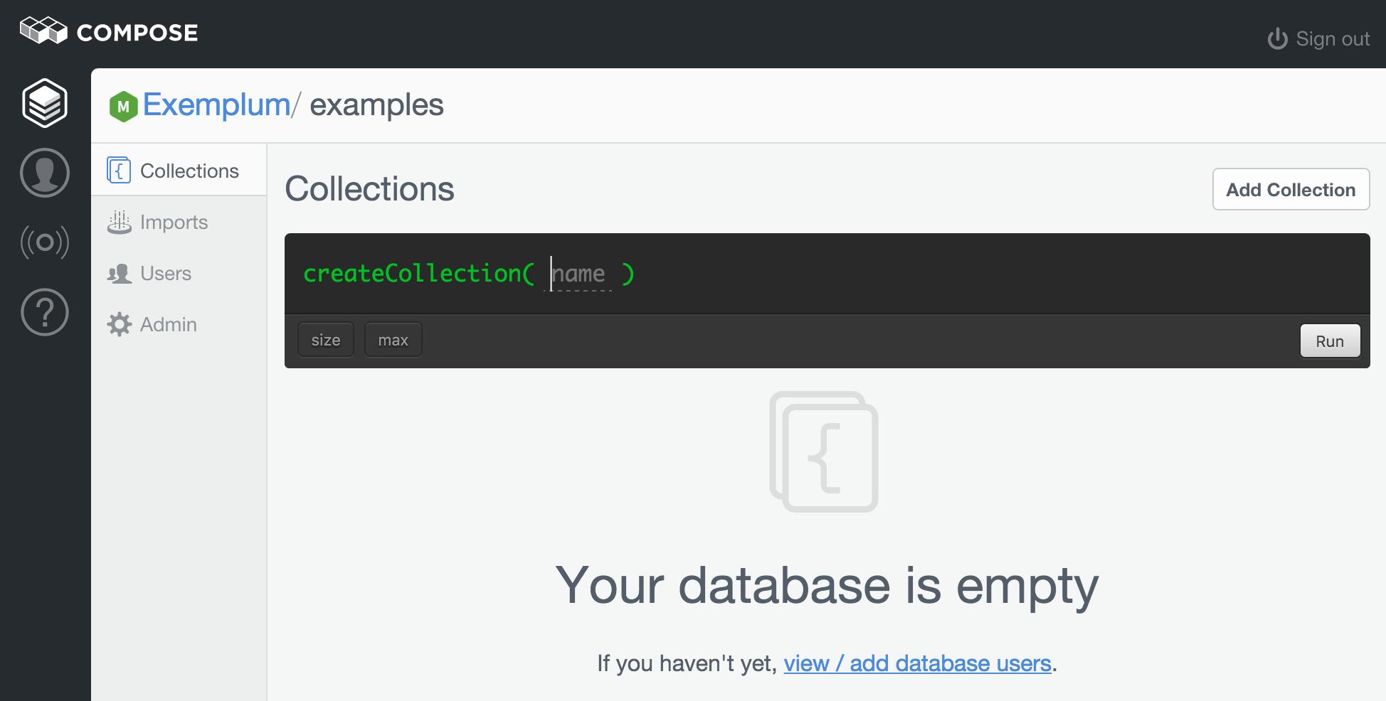 Created Database