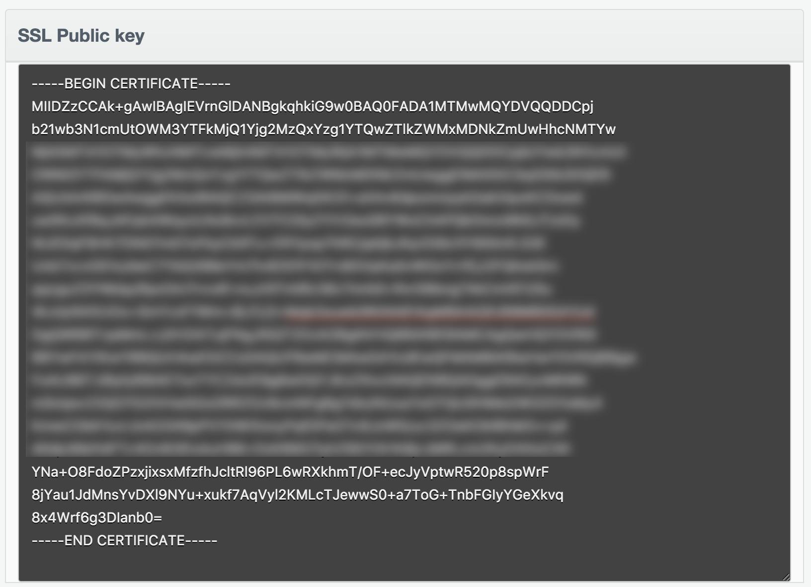 Show SSL Public Key