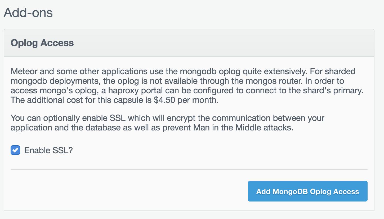 Oplog Acess Confirm