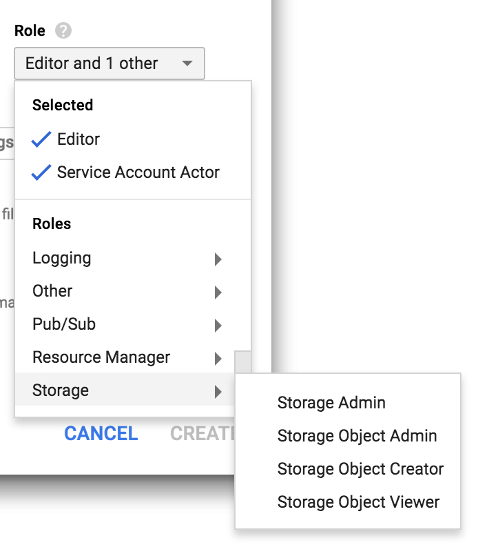 Select Storage Roles