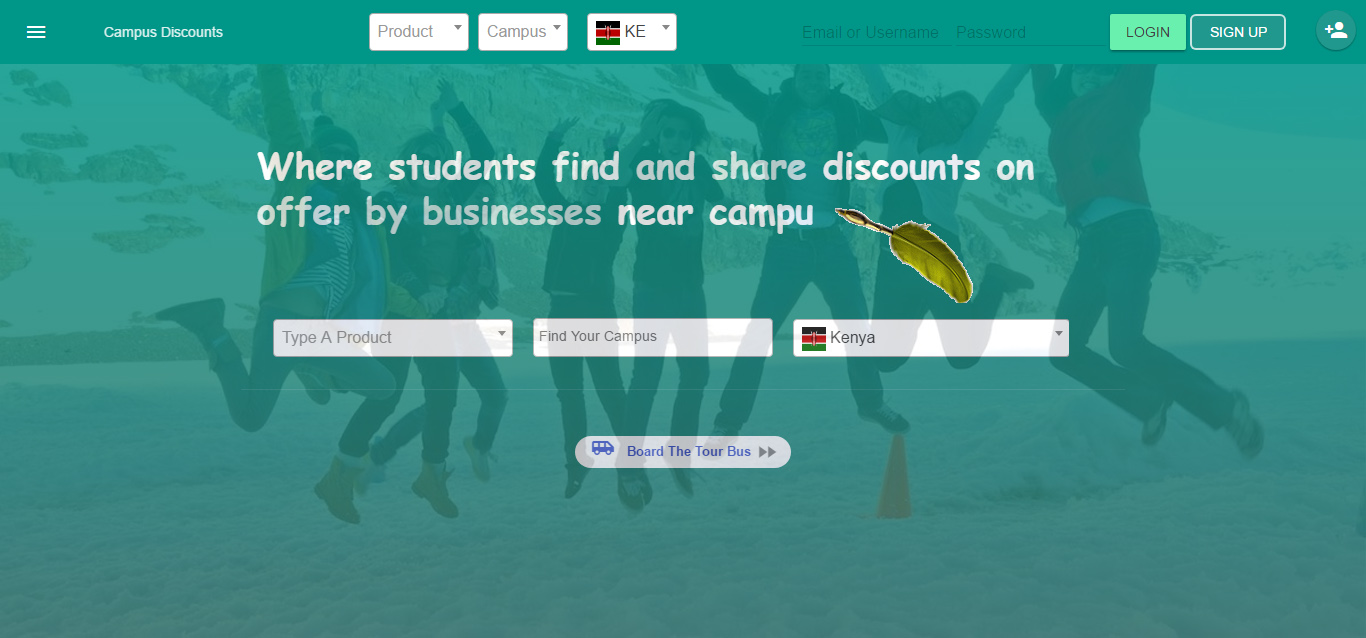 Campus Discounts Dashboard Screenshot