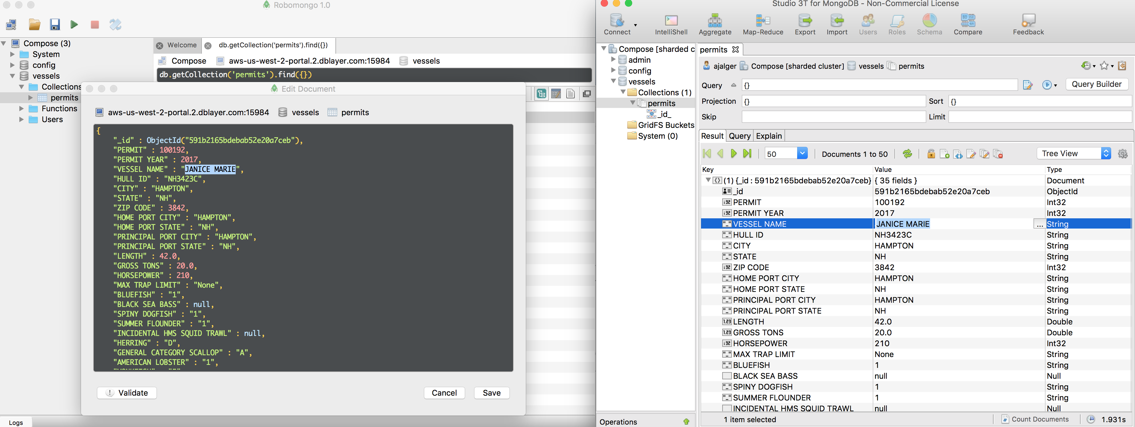 Taking a Look at Robomongo and Studio 3T with Compose for MongoDB