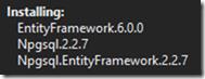 Install Npgsql.EntityFramework NuGet