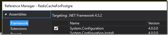 Add reference to System.Configuration