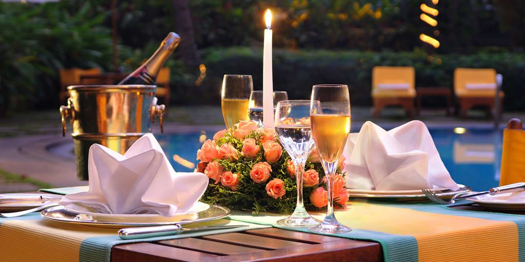 Poolside Candlelight Dinner at Gargee Grand Pune