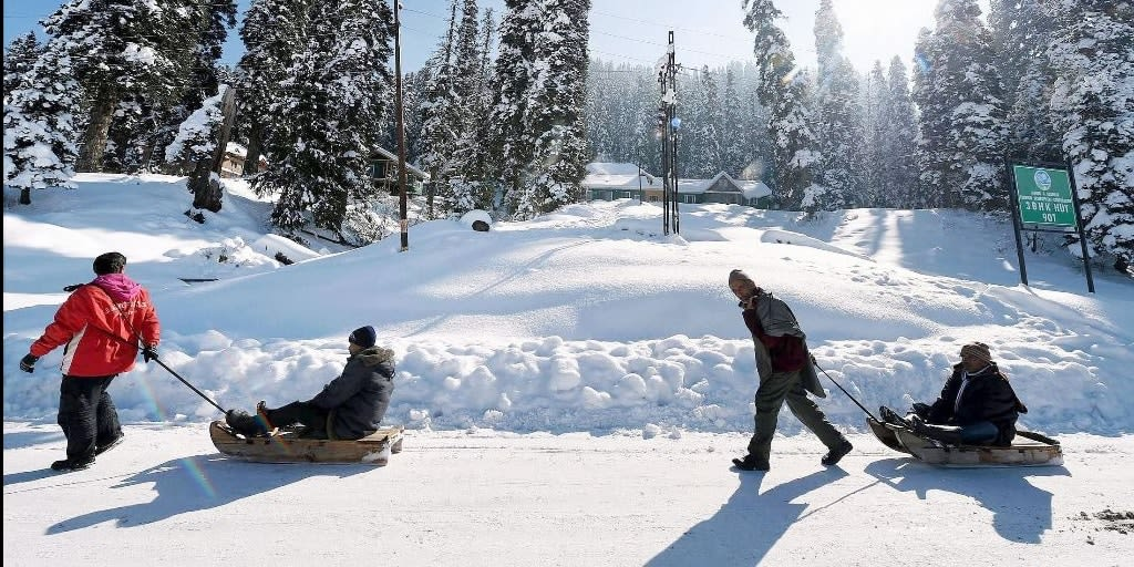 Places to visit in January in India - Kashmir