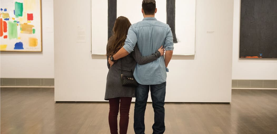 Date ideas for Valentine's Day - romancing over art