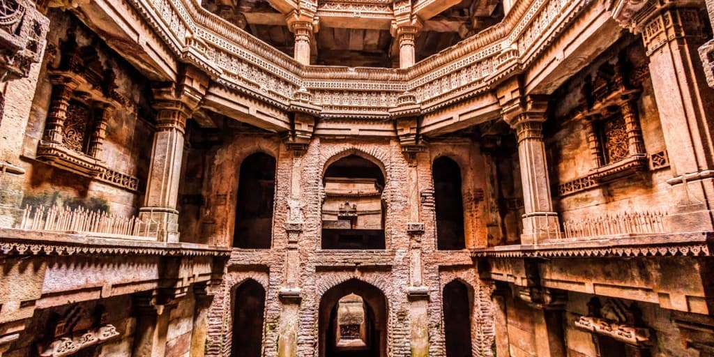 Places to visit near Ahmedabad within 50 Kms-adalaj stepfall