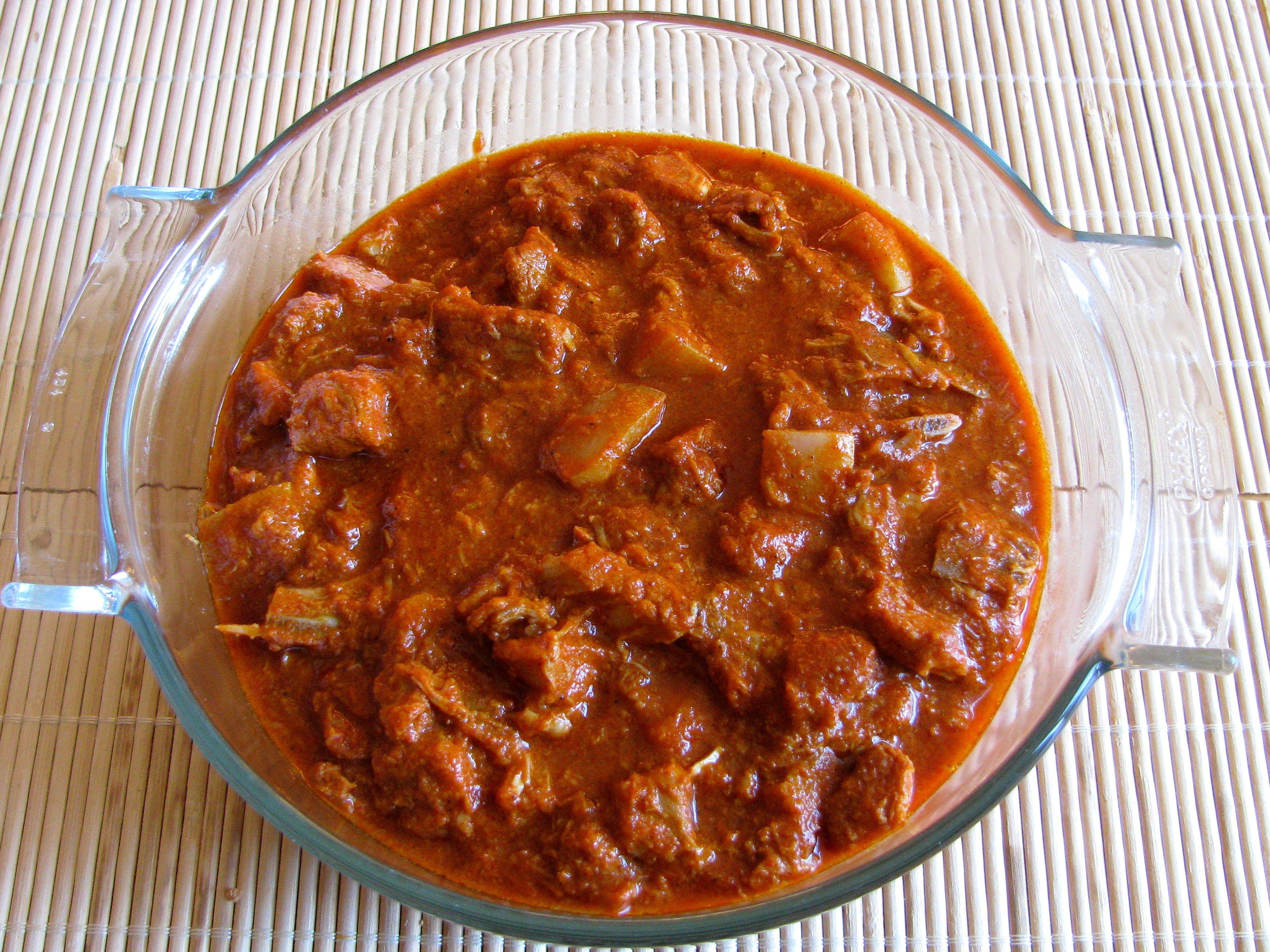 street foods in Goa-Pork sorpotel