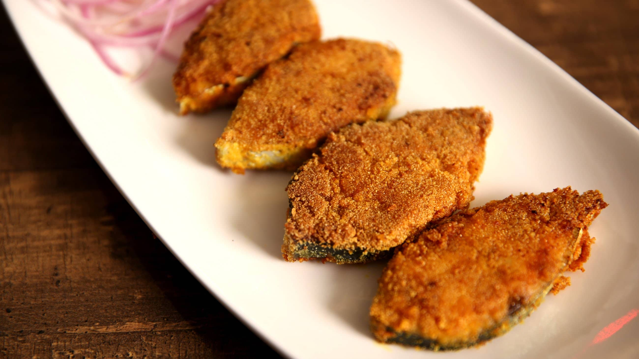 street foods in Goa-Rava fried fish