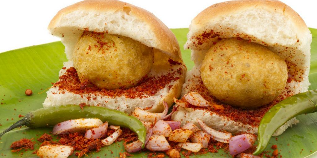 street food in Pune-Vada pav