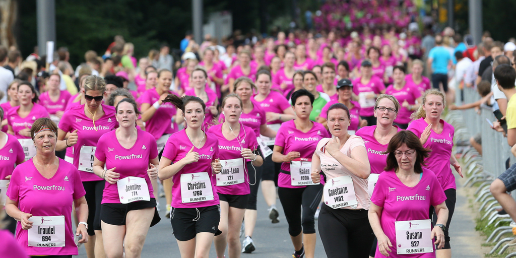 International Women's day -Woman run