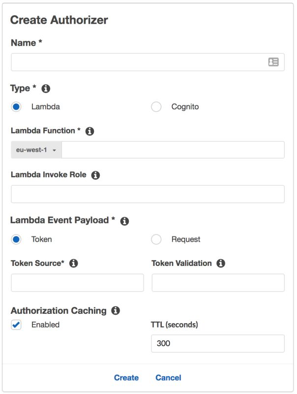 API Gateway & AWS Lambda for Authentication