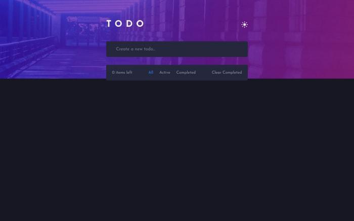 Desktop design screenshot for the Todo app coding challenge