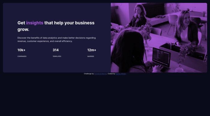 Desktop design screenshot for the Stats preview card component coding challenge
