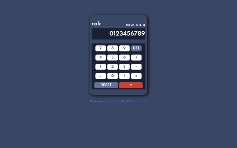 Desktop design screenshot for the Calculator app coding challenge