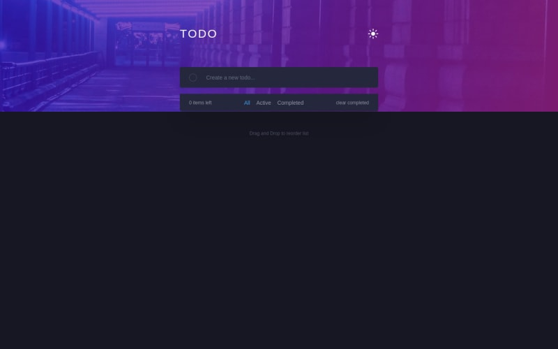 Desktop design screenshot for the Todo app coding challenge