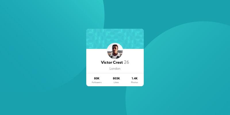 Desktop design screenshot for the Profile card component coding challenge