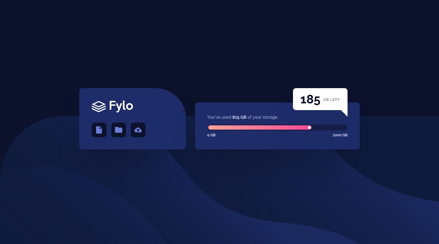 Design preview for Fylo data storage component coding challenge