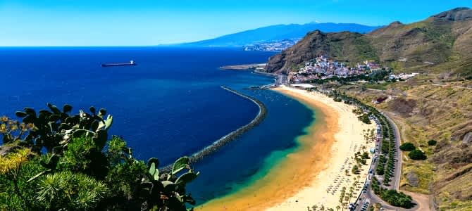 Tenerife, playa Las Teresitas, Kanárské ostrovy