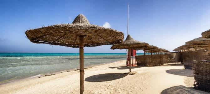 Hurghada, pláž Makadi Bay, Egypt