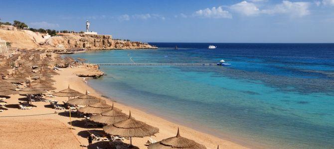 Sharm El Sheikh, pláž Montazah, Egypt