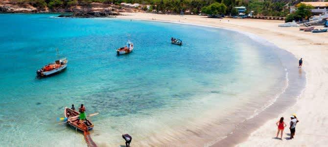 Ostrov Santiago, pláž Tarrafal, Kapverdské ostrovy