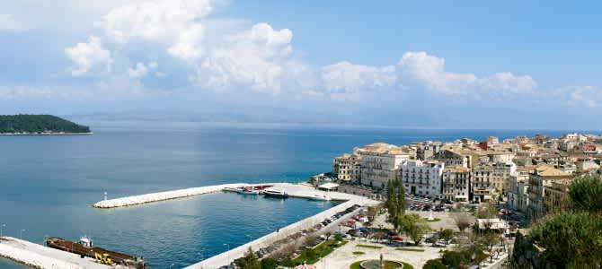 Kerkyra, ostrov Korfu, Řecko