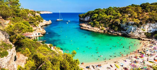 Mallorca, Cala Llombards, Španělsko