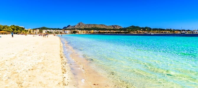 Mallorca, Port d'Alcudia, Španělsko