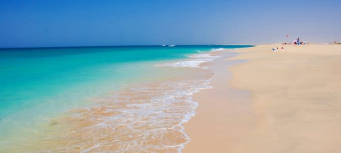 Ostrov Boa Vista, pláž Cabo Santa Maria, Kapverdské ostrovy