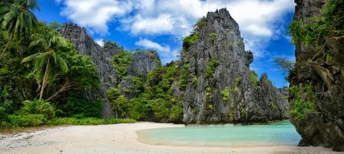 El Nido, pláž Marimegmeg, Filipíny