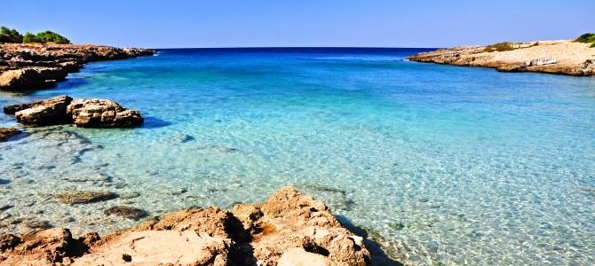 Pláž Porto Selvaggio, Salento, Itálie