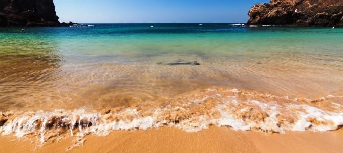 Lanzarote, Playa de Papagayo, Španělsko