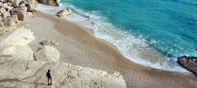 Sardinie, pláž Cala Goloritzé, Itálie