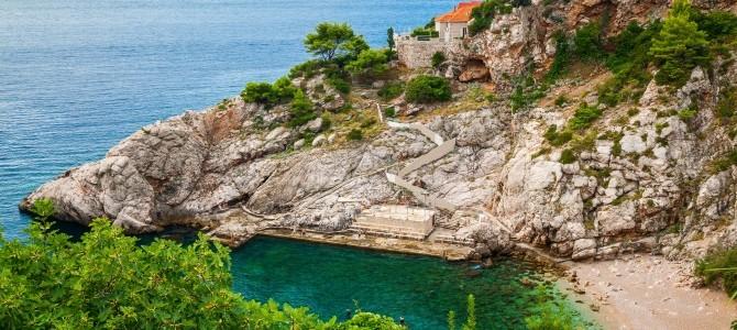 Dubrovník, pláž Bellevue, Chorvatsko
