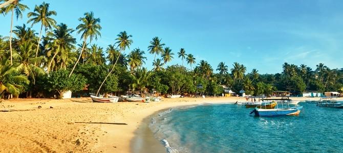 Unawatuna, pláž Unawatuna, Srí Lanka