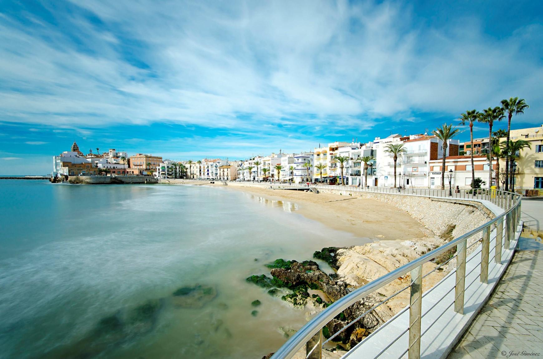 Sitges, Španělsko - Krásné pláže