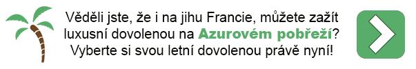 Dovolená Azurové pobřeží Francie
