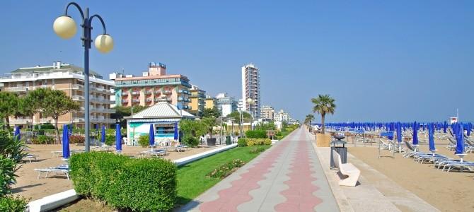 Benátky – pláž Jesolo, Itálie