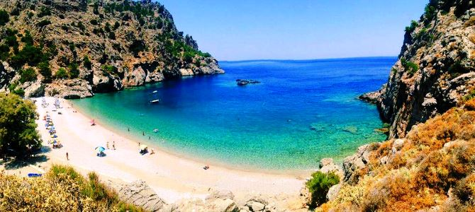 Karpathos, pláž Achata, Řecko