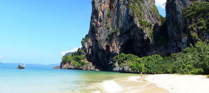 Krabi, pláž Railay Beach, Thajsko