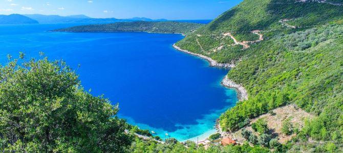 Lefkada, pláž Afteli, Řecko