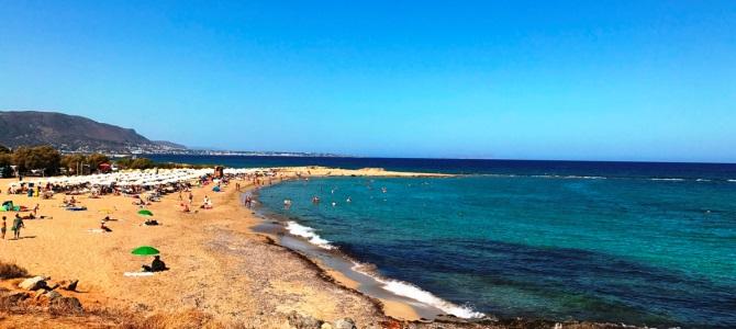 Kréta, pláž Potamos, Řecko