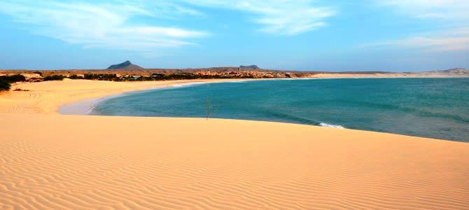 Ostrov Boa Vista, pláž Praia de Chaves, Kapverdské ostrovy